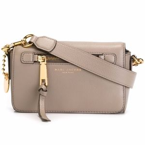 Marc Jacobs Recruit Leather Crossbody Bag in Mink